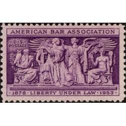 1عدد تمبر 75مین سالگرد کانون وکلای آمریکا - آمریکا 1953