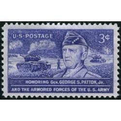 1عدد تمبر بزرگداشت جنرال جورج اس پاتن جر، 1885-1945 - آمریکا 1953