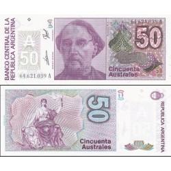 اسکناس 50 اوسترال آرژانتین 1988 تک
