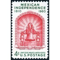 1 عدد تمبر استقلال مکزیک - آمریکا 1960