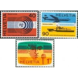 3 عدد تمبر اتحادیه بین المللی مخابرات - UIT - سوئیس 1976
