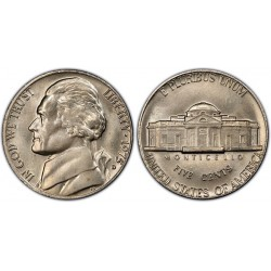 سکه 5 سنت - نیکل مس - آمریکا 1975غیر بانکی