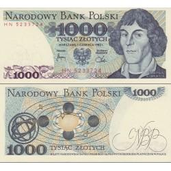 اسکناس 1000 زلوتیچ - لهستان 1982