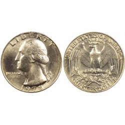 سکه 25 سنت - کوارتر - نیکل مس - تصویر جرج واشنگتن - آمریکا 1978 غیر بانکی