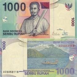 اسکناس 1000 روپیه اندونزی 2000 تک