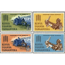 4 عدد تمبر نجات از گرسنگی - آفریقای شرقی 1963