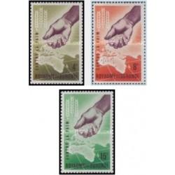 3 عدد تمبر نجات از گرسنگی - بروندی 1963
