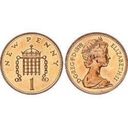 سکه  1 پنی برنز - انگلیس 1978 غیر بانکی