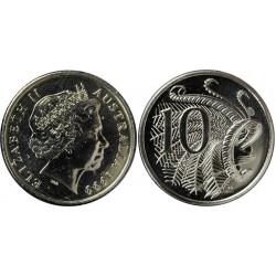 سکه 10 سنت - نیکل مس - استرالیا 2013 غیر بانکی