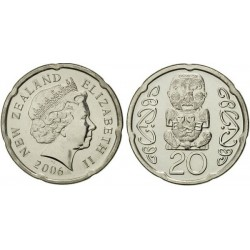 سکه 20 سنت - نیکل روکش فولاد - نیوزلند2006 غیر بانکی