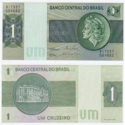 اسکناس 1 کروزرو برزیل 1972 تک