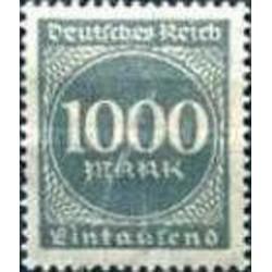 1 عدد تمبر سری پستی - 1000 مارک - رایش آلمان 1923 با شارنیه