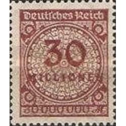 1 عدد تمبر سری پستی -سورشارژ 30 میلیون مارک - رایش آلمان 1923 با شارنیه