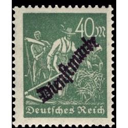 1 عدد تمبر سری پستی - تمبر رسمی سورشارژ - 40 مارک - رایش آلمان 1923 با شارنیه