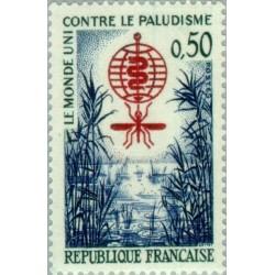 1 عدد تمبر ریشه کنی مالاریا - فرانسه 1962