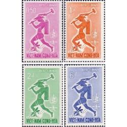 4 عدد تمبر ریشه کنی مالاریا  - ویتنام جنوبی 1962