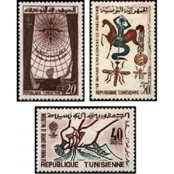 3 عدد تمبر ریشه کنی مالاریا  - تونس 1962
