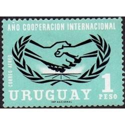 1 عدد تمبر سال همکاری بین المللی - اروگوئه 1966