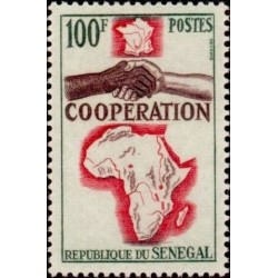 1 عدد تمبر سال همکاری بین المللی - سنگال 1964