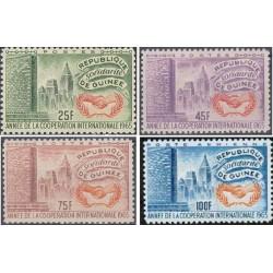 4 عدد تمبر سال همکاری بین المللی- جمهوری گینه 1965