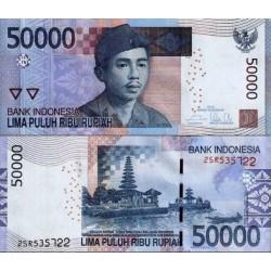 اسکناس 50000 روپیه  - اندونزی 2014 سفارشی - توضیحات را ببینید