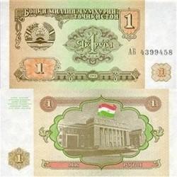 اسکناس 1 روبل تاجیکستان 1994 تک