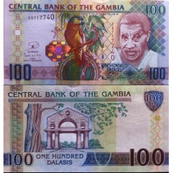 اسکناس 100 دالاسی - گامبیا 2013
