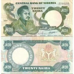 اسکناس 20 نایرا - نیجریه 2001  با درج تاریخ