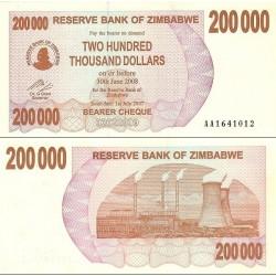 اسکناس 200.000 دلار - زیمباوه 2007