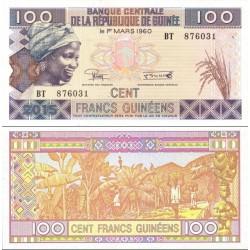 اسکناس 100 فرانک - گینه 2015