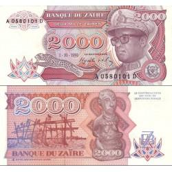 اسکناس 2000 زئیر - زئیر 1991