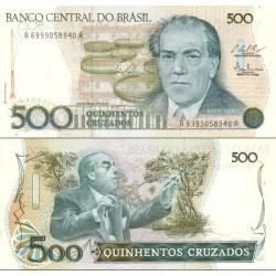 اسکناس 500 کروز - یادبود صدمین سال تولد ویلا لوبوس - برزیل 1987