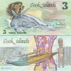 اسکناس 3 دلار - جزایر کوک 1987 سفارشی