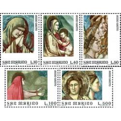 5 عدد تمبر سا ل مقدس - تابلوهای نقاشی - سان مارینو 1975