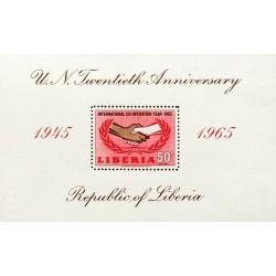 سونیرشیت  تمبر سال بین المللی همکاری  - لیبریا 1965