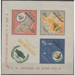 مینی شیت  تمبر سال بین المللی همکاری  - بروندی 1965