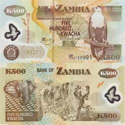 اسکناس پلیمر 500 کواچا زامبیا 2003 تک
