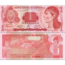 اسکناس 1 لمپیراس - هندوراس 2000