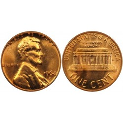 سکه 1 سنت - برنجی - آمریکا 1968غیر بانکی