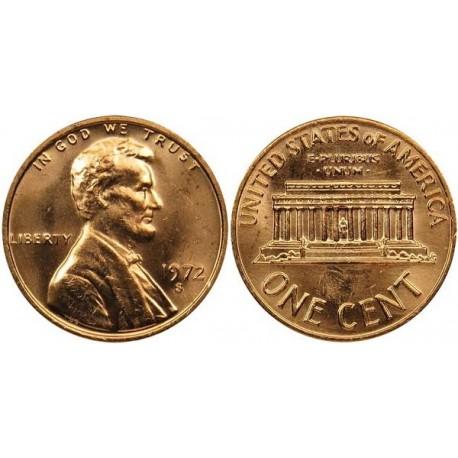 سکه 1 سنت - برنجی - آمریکا 1972غیر بانکی