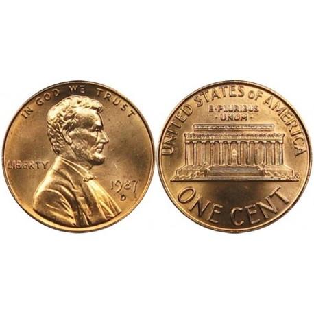 سکه 1 سنت - برنجی - آمریکا 1987غیر بانکی