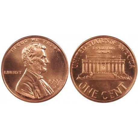 سکه 1 سنت - برنجی - آمریکا 1997غیر بانکی