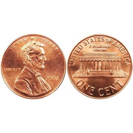 سکه 1 سنت - برنجی - آمریکا 2000 غیر بانکی