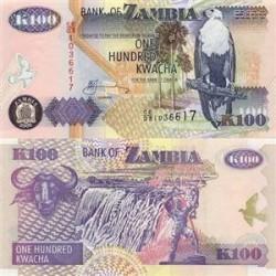 اسکناس 100 کواچا زامبیا 2008