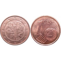 سکه 1 سنت یورو - مس روکش فولاد - آلمان 2015 غیر بانکی