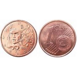 سکه 1 سنت یورو - مس روکش فولاد - فرانسه 2010 غیر بانکی
