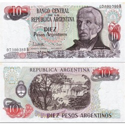 اسکناس 10 پزو - آرژانتین 1984