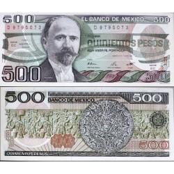 اسکناس 500 پزو - مکزیک 1984 سری EC