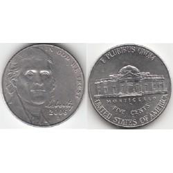 سکه 5 سنت - نیکل مس - آمریکا 2006 غیر بانکی