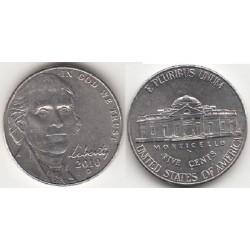 سکه 5 سنت - نیکل مس - آمریکا 2010 غیر بانکی